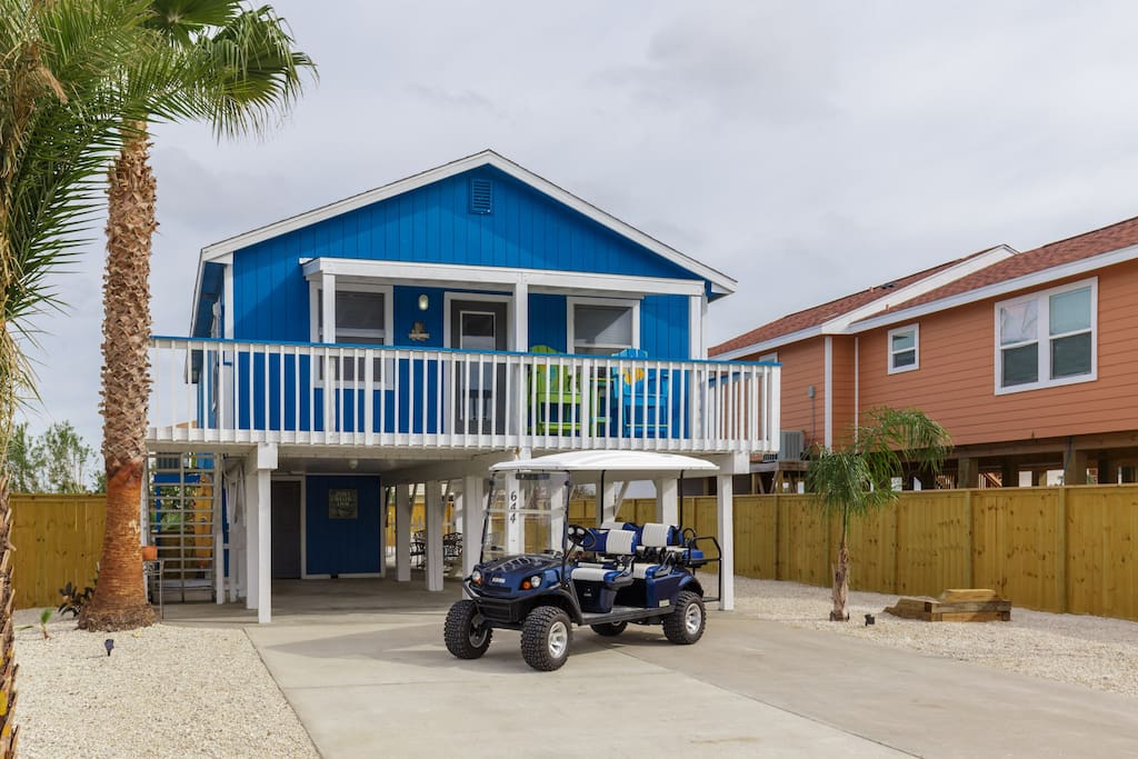 Your beachside getaway comes with a golf cart at no extra charge.