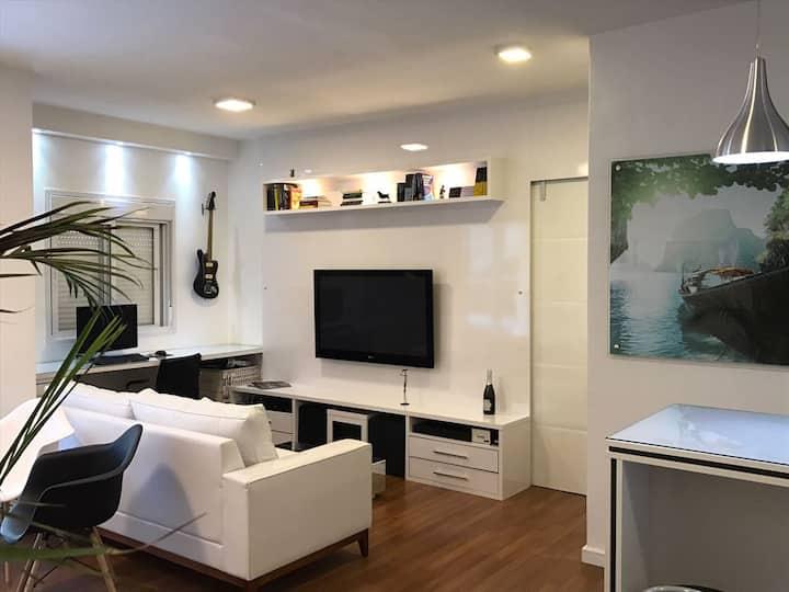 Apartamento decorado prox Alphaville Longa Estadia