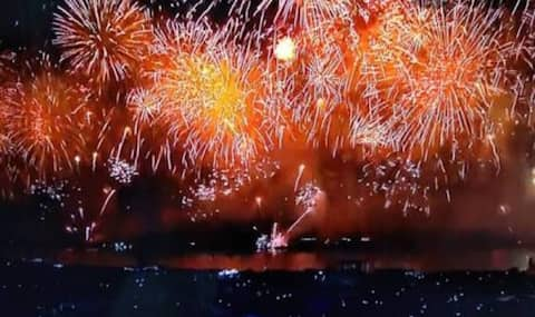 Firework and Copacabana beach view!