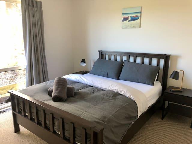 Bedroom 3: A queen bed with built in robe