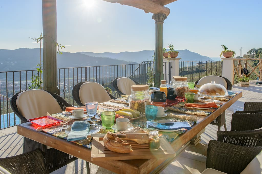 breakfast, lunch and dinner alfresco if you choose to