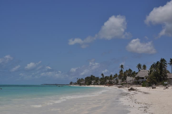 Our guesthouse is located directly on the beach of Jambiani.