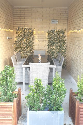 Private patio area