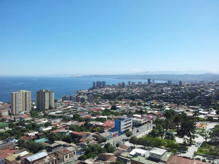Departamento full vista panoramica a  Viña del Mar