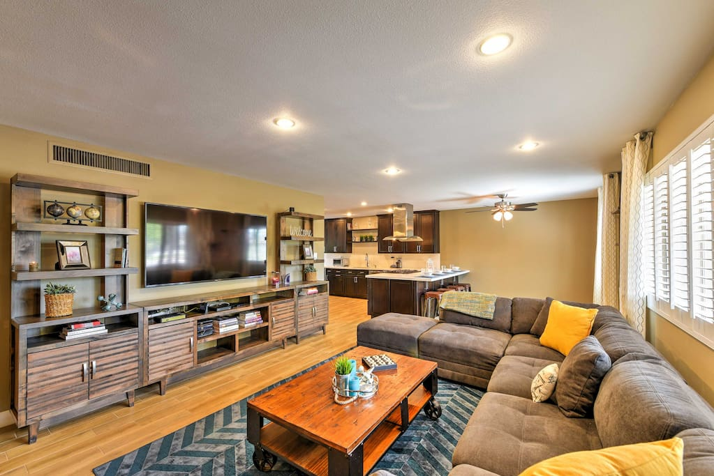 Unwind after your daily adventures and watch your favorite shows on the flat-screen TV!