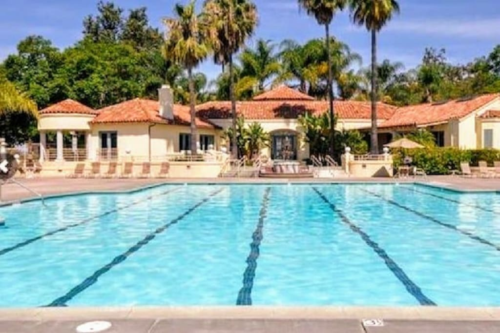 Private Community Pool in my neighborhood. Hours 6 am to 10 pm. Large jacuzzi, tennis and basketball courts. Restrooms with changing area. Outdoor warm shower. I provide pool towels.