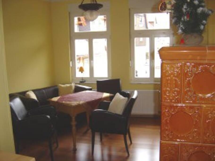 Küche mit Blick auf Esstisch