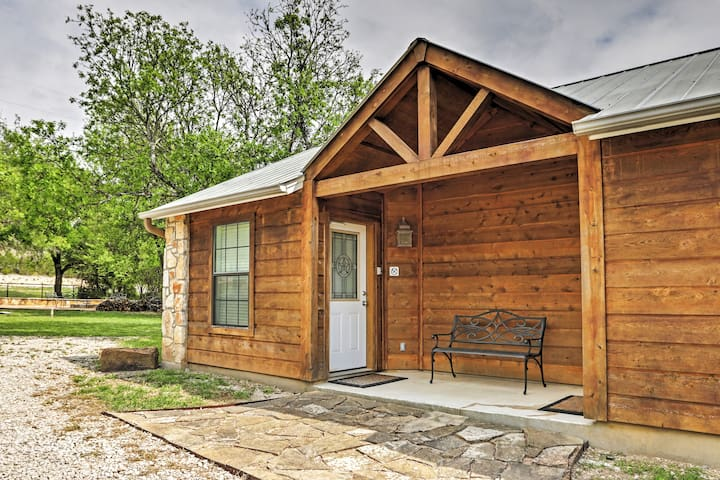 This cozy cabin is the perfect place for 2 guests to enjoy the Hill Country.