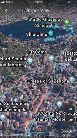 La casa si trova 1,5 km da Vila Olmo