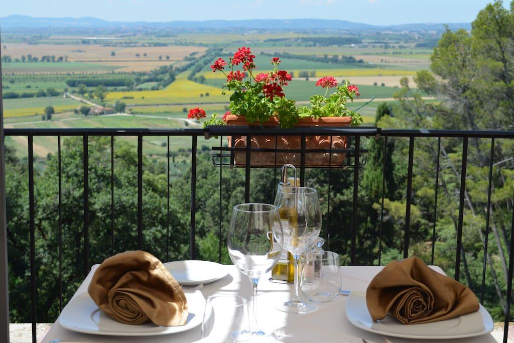 Dinner on panoramic terrace