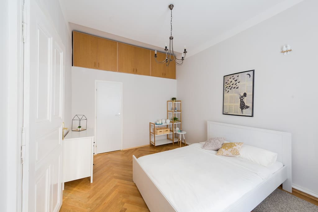 A second bedroom has queen size bed, with a very comfortable mattress, to assure you have a good night sleep before exploring Prague's beautiful spots.