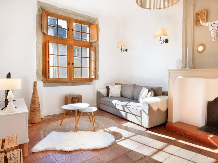 Appartement-Confort-Salle de bain Privée-Vue historique