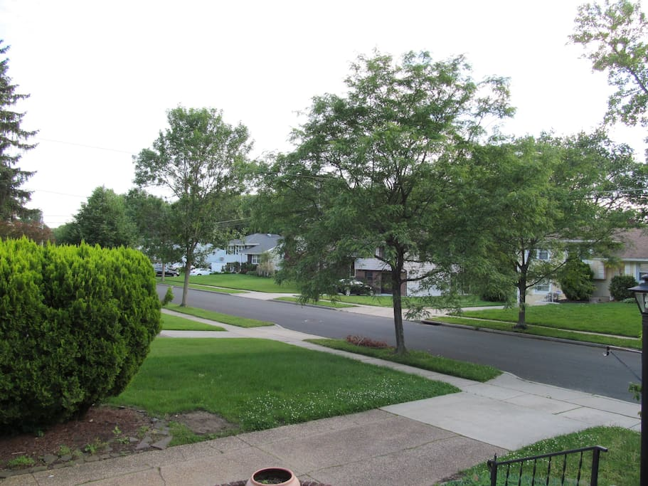 Quiet street, plenty of street parking, also driveway fits two and garage.