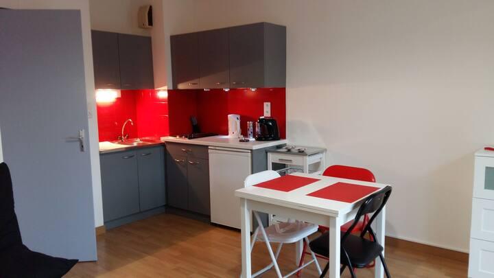 Studio agréable centre ville la Roche sur yon.