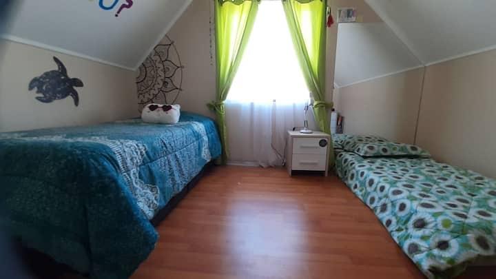 Habitación para 2 o 3 personas con baño compartido