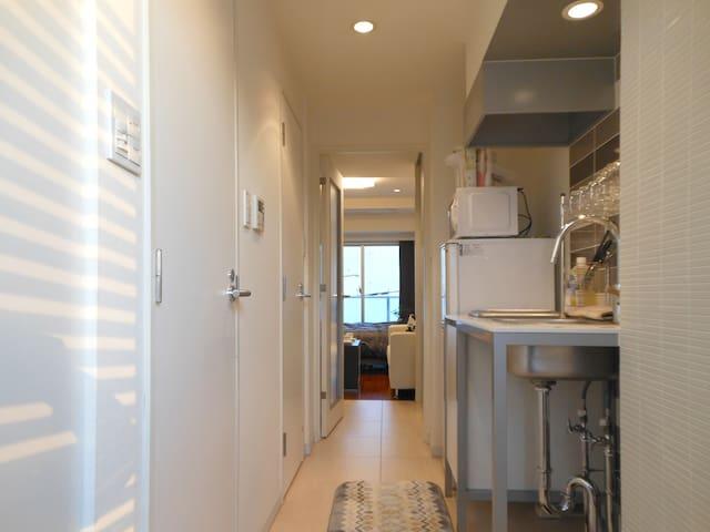 1min SHIROKANE Free PocketWiFi 2Bed - Minato-ku - Lägenhet