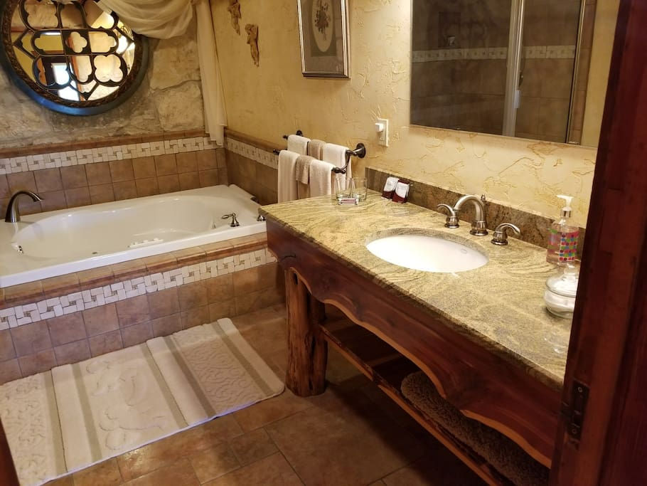 Enjoy a hot bath after a day out in the Hill Country!