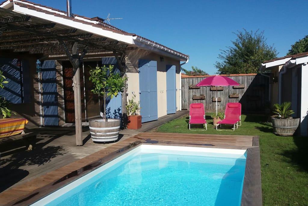 Maison pr s bordeaux avec piscine priv e chauff e for Maison louer bordeaux
