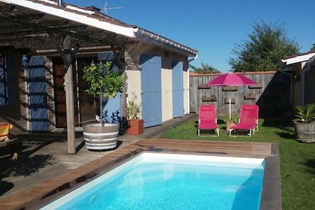 Maison proche bordeaux 10min vinexpo Piscine 27° - Bassens - Haus