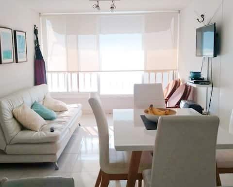 Lägenhet med privat strand