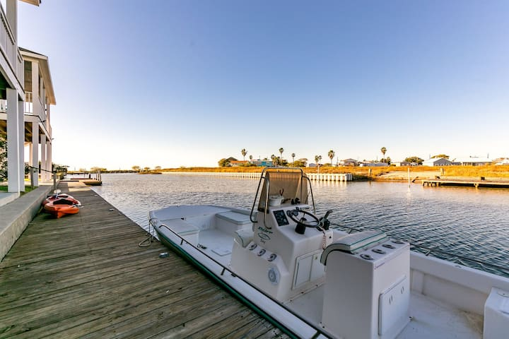 Dock your boat, fish and kayak right from the lighted fishing dock.