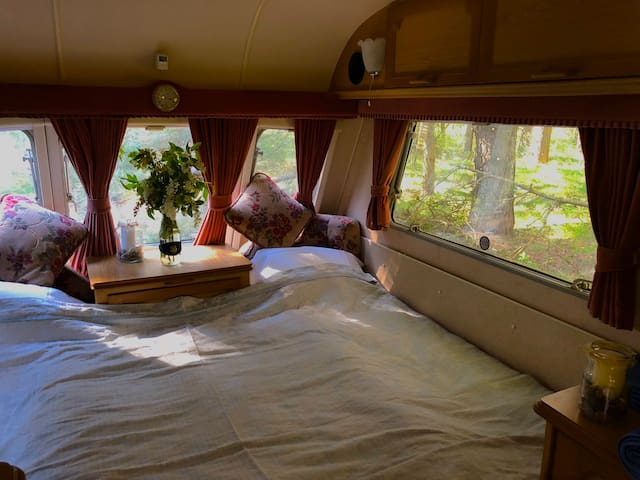 Cosy forest trailer cabin
