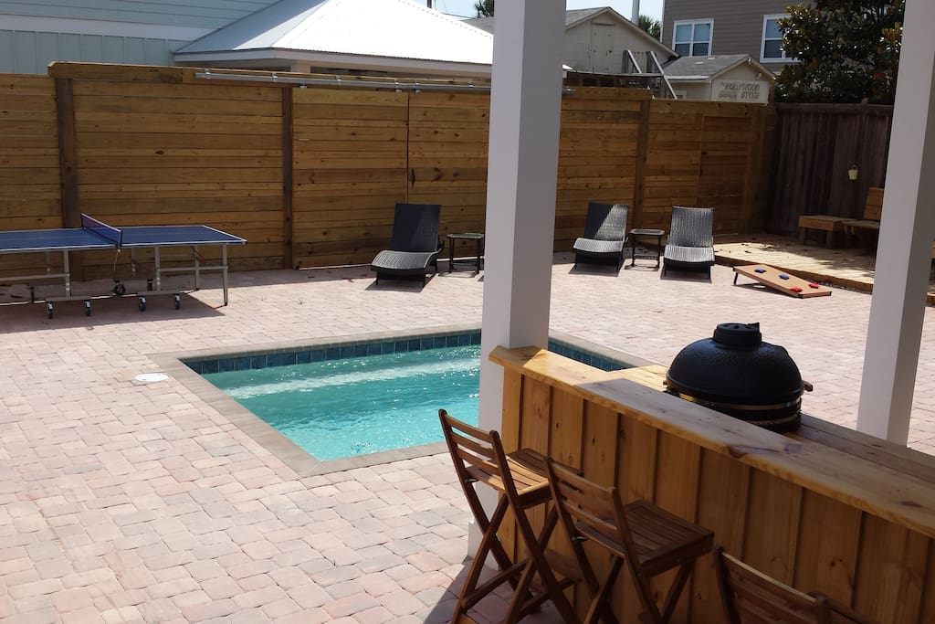 Sun, splash, snack, score...However you want to enjoy the days/evenings, this backyard has it all!