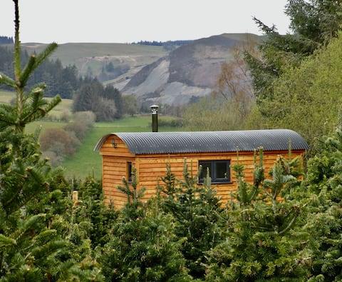Luxury Shepherds Hut on a Christmas Tree Farm