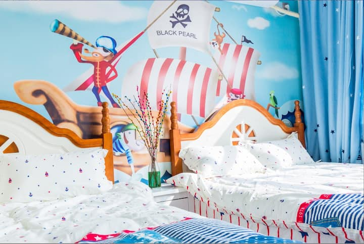 海盗船双床房【近DSN乐园免费接送】