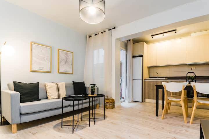 Gran apartamento con patio completamente renovado