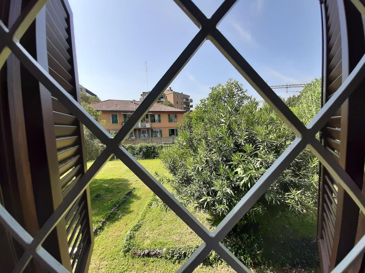Vista giardino dalle camere