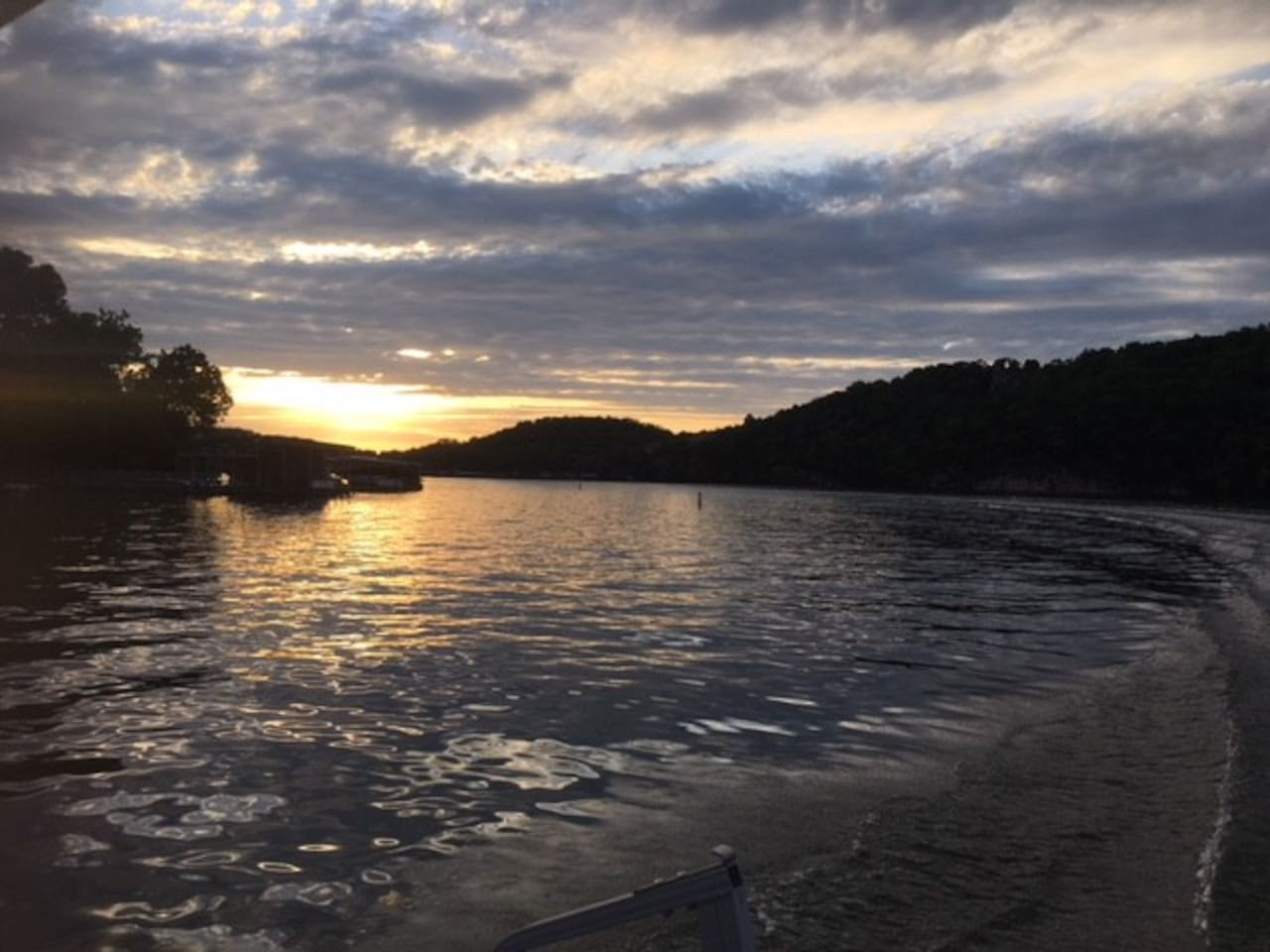 Watch the sun set. at Frankly Perfect Lake Liviing