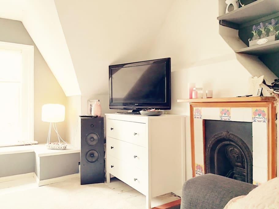 Attic living space.
