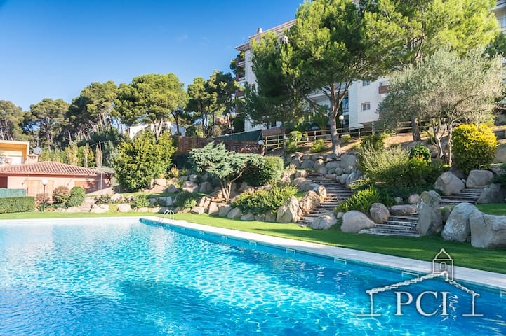 Sc90 Sol Pins Mestral Apartment with shared pool - Palafrugell - Apartment