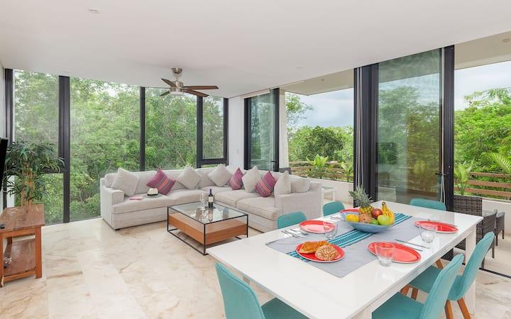☆ 1 bed Jungle views ☆ Terrace | Infinity pool!