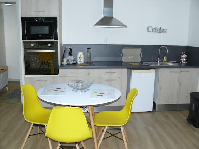 Location meublé T2  vue accés Via Rhôna Condrieu