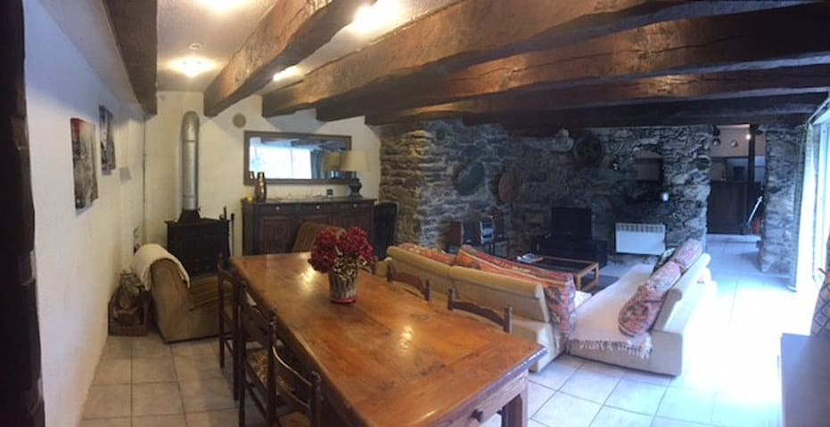 Appartement dans les Pyrénées en bord de rivière