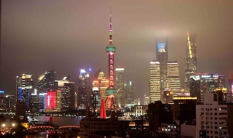 【SIXIANG上海 · 外滩】150平超大空间,直角飘窗大房,宝格丽同款景观,超美的外滩夜景