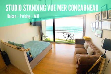 Studio standing vue mer / balcon / parking