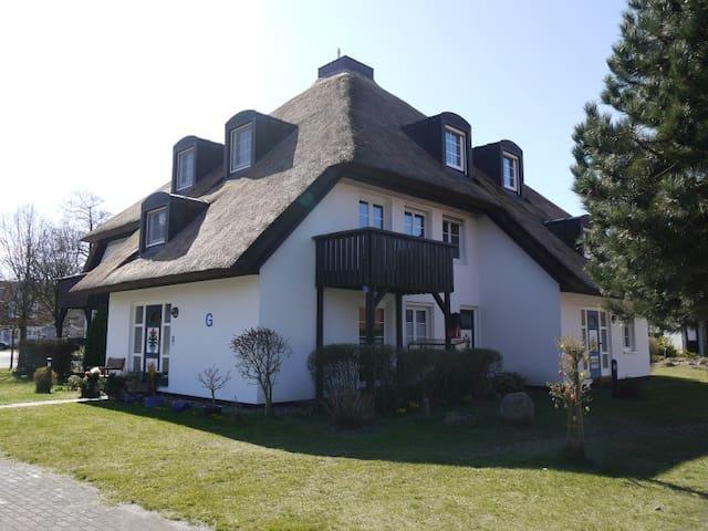 Schöne Reetdach-Wohnung am Darsser Urwald