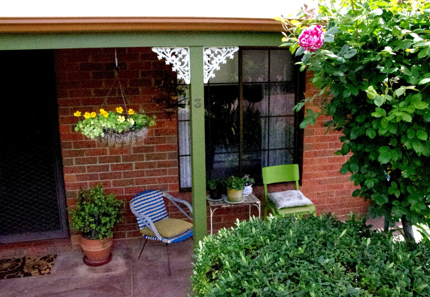 Bendigo has 300 days of sunshine and the verandah is a lovely place to enjoy them.