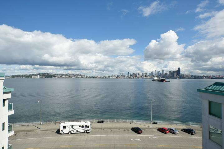 Deck view of Seattle Skyline