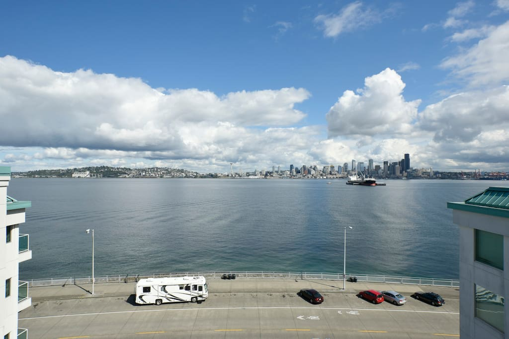 Deck view of Seattle Skyline
