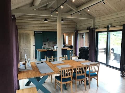 New, 120 m2 cabin, 3b-rooms, Raphamn/Otta/Rondane.