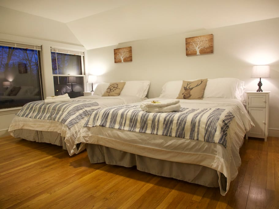 2 Full Size Beds with Clean Linens for You