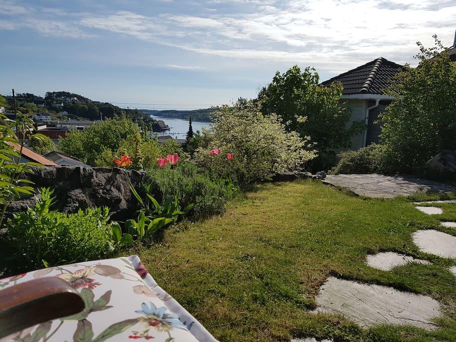 Her kan du hygge deg og se utover Tromøysund