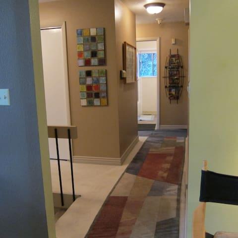 Upstairs hallway to bathroom
