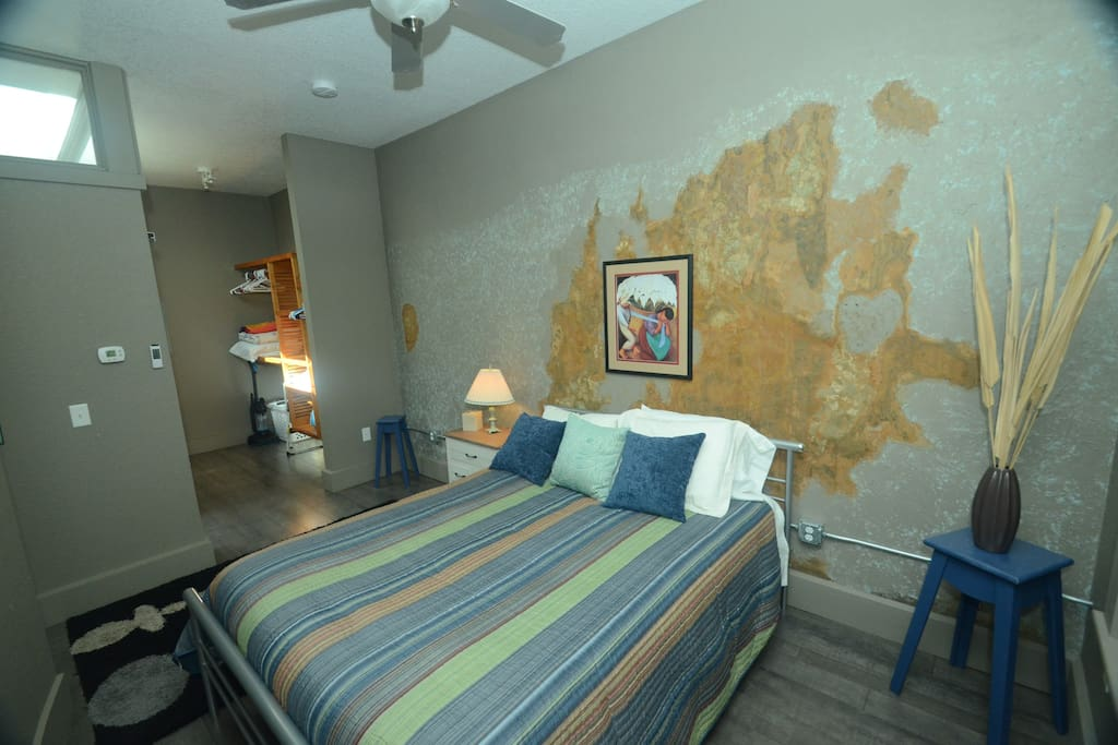 Artsy wall with seven layers of wallpaper which could tell story!