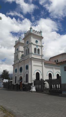 Curch in the small town Barrio. Iglesia de nuestra Sra. de Fatima