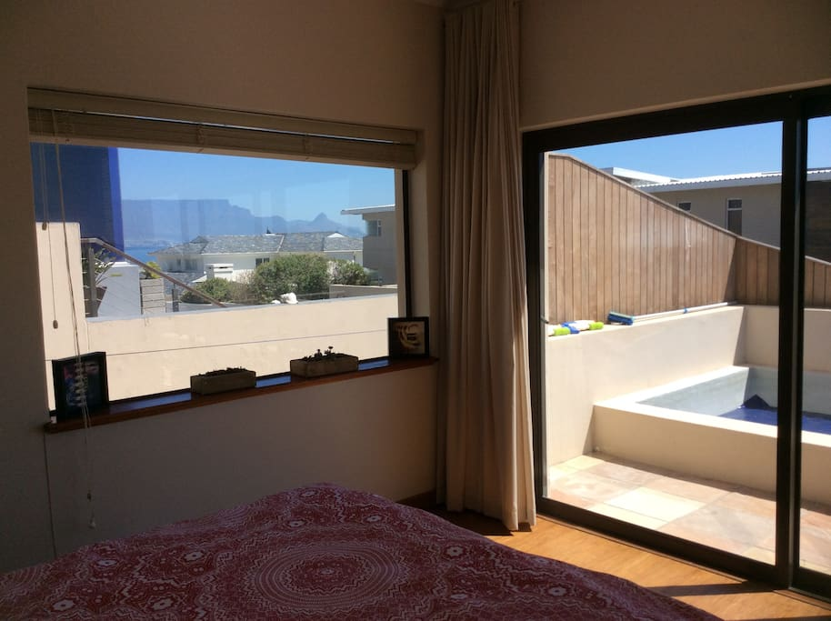 Room with a view with direct access to plunge pool.